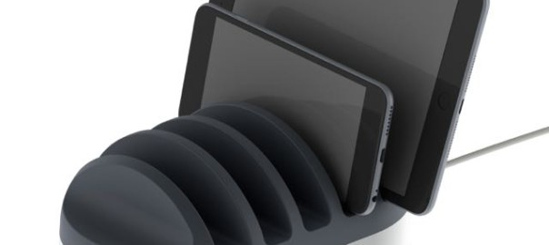 The Powerdock can charge up to five devices at once