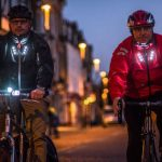 Visijax is a cycling jacket with built-in LED lights and blinkers