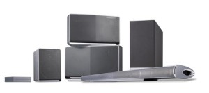 The complete family of LG's Music Flow multiroom audio speakers