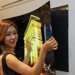 LG unveils wafer thin OLED panel that sticks to the wall like a fridge magnet