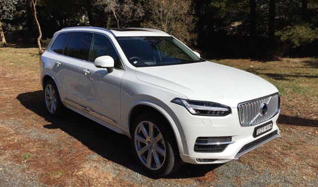 The XC90 used in the driverless car trials in Canberra