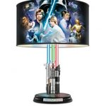 Attention Star Wars fans! Here's a lampshade with lightsabers