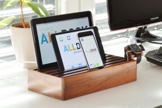 alldock charges your mobile devices and apple watch in one place tech guide. Black Bedroom Furniture Sets. Home Design Ideas