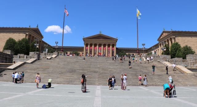 The Philadelphia Museum of Art and that those famous 72 steps
