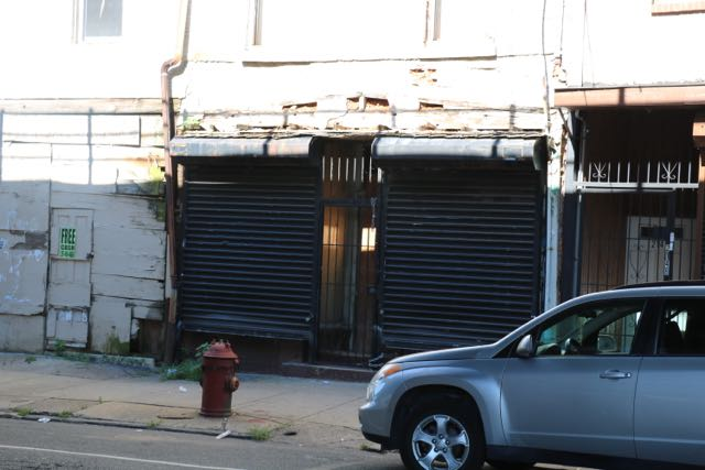 .... is now boarded up and abandoned. You can see the same fire hydrant in the shot