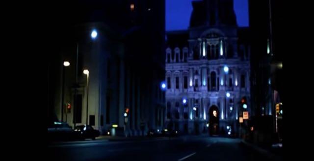Rocky's early morning run towards Philadelphia City Hall