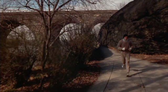 Rocky runs along the Schuylkill River