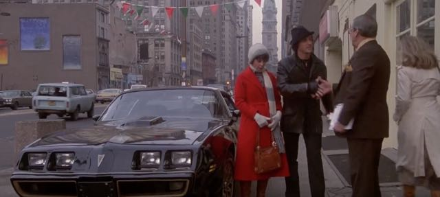 Where Rocky buys his Trans Am in Rocky II ....