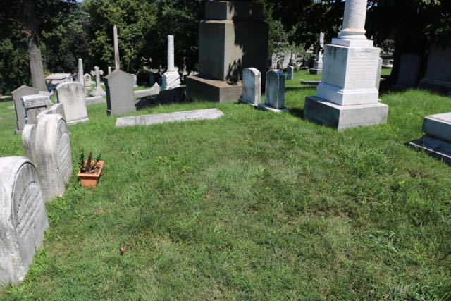 .... and here is the same spot. Adrian's headstone as placed in front of the white slab