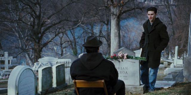 Adrian's grave in Rocky Balboa