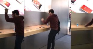 Watch a customer go nuts in an Apple Store and smash iPhones
