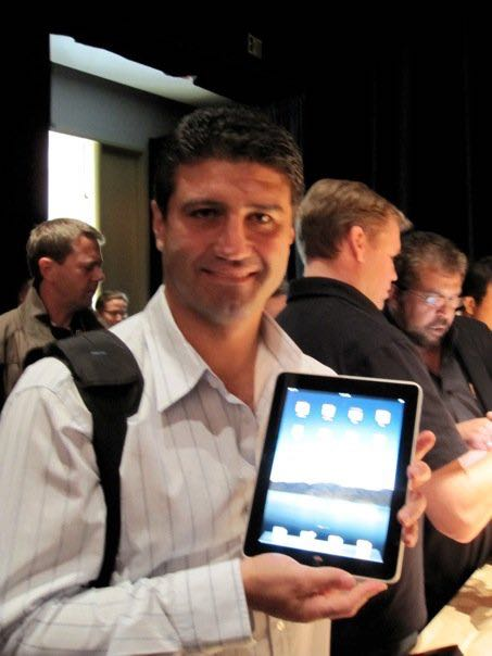 Tech Guide editor Stephen Fenech at the original iPad launch in 2010