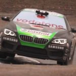 Watch V8 champion Mark Skaife race a blacked-out BMW using phones on Vodafone's network