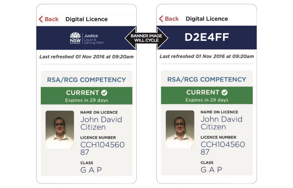 How your digital driver's licence will look