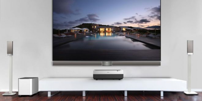 tv 100 inch. hisense unveils laser tv for a 100-inch home viewing experience tv 100 inch