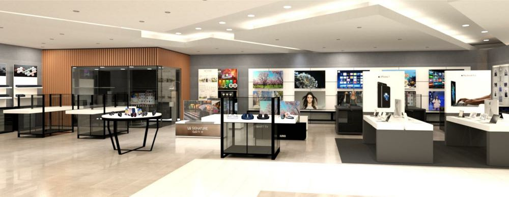 A rendering of the premium technology zone about to appear in David Jones