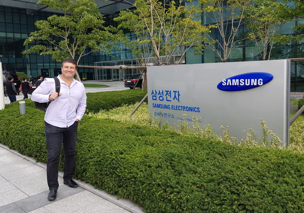 Tech Guide editor Stephen Fenech at Samsung headquarters in Seoul