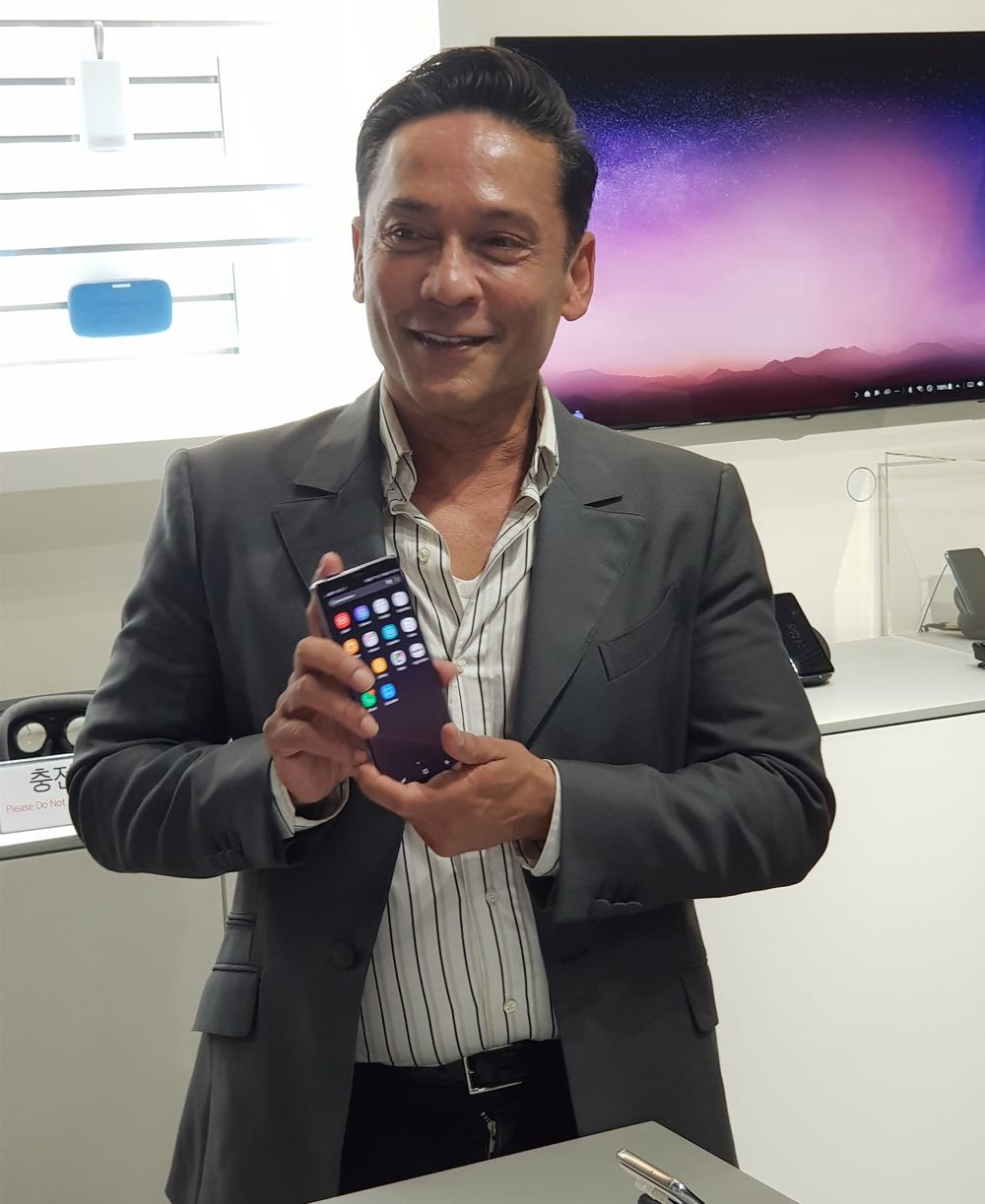 Pio Schunker - head of global marketing for Samsung Mobile