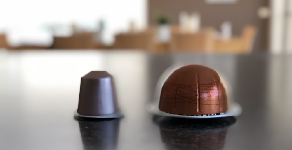 Old and the new - the different Nespresso pods