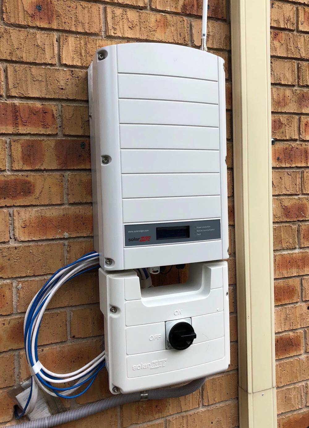 Our SolarEdge inverter