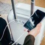 InCase NoviConnected carry-on case has a built-in battery to charge your devices