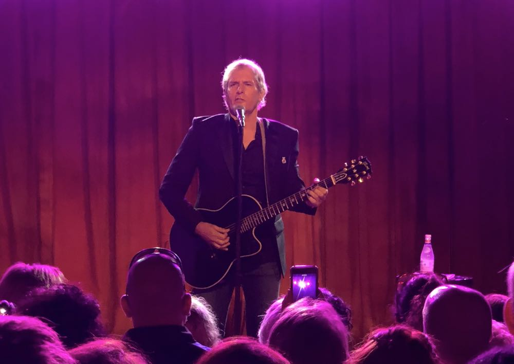 Michael Bolton performs at The Beresford at the Audible launch event in Sydney