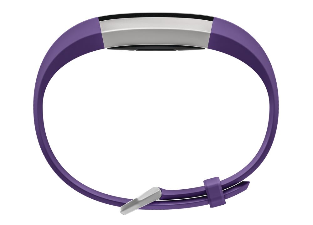 Product render of Fitbit Ace in profile view in power purple color