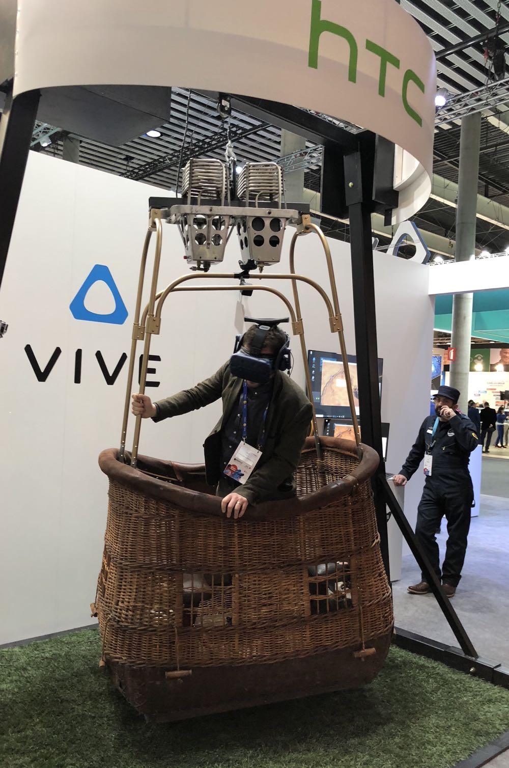 Riding a virtual hot air balloon