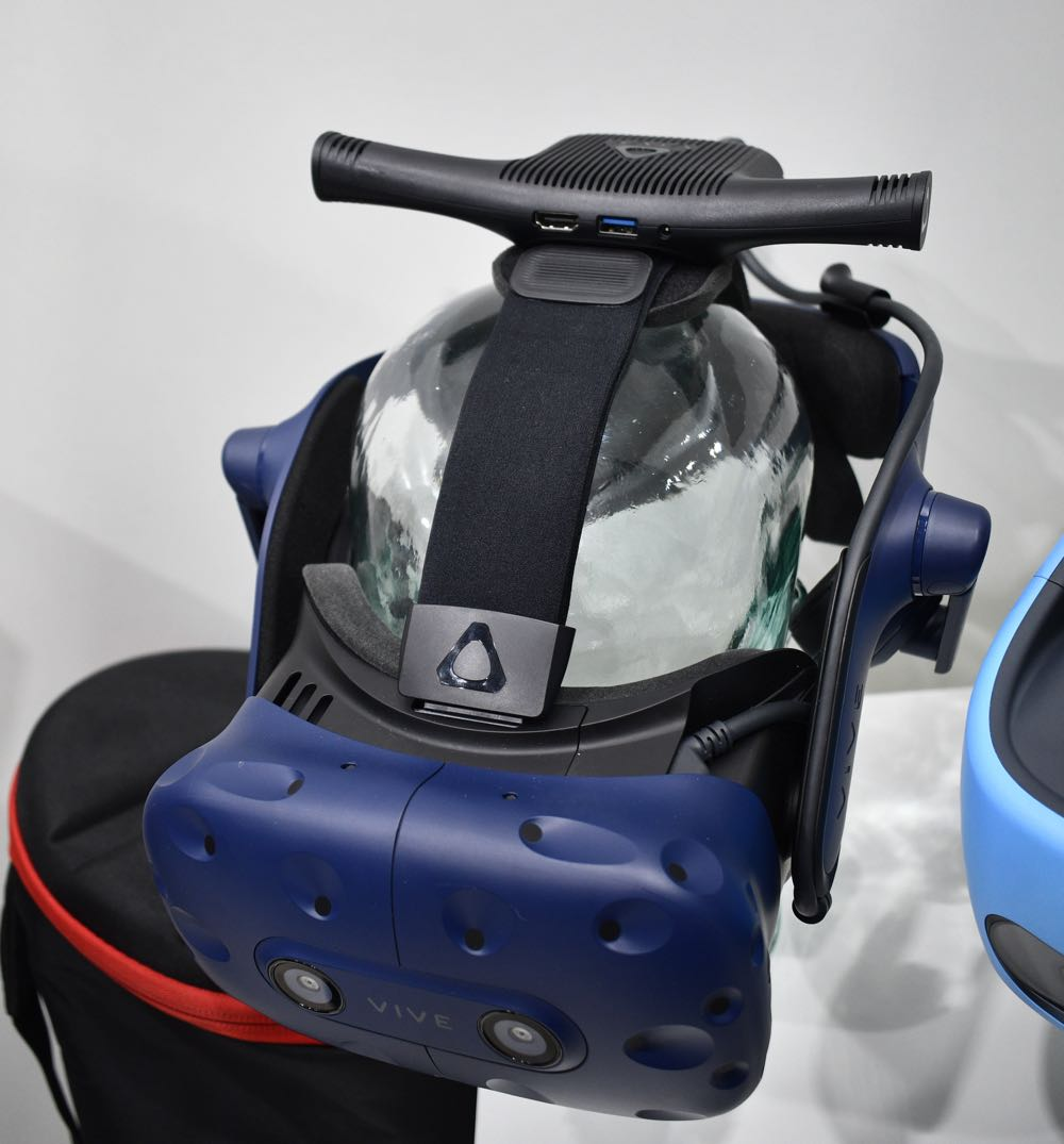 HTC Vive P{ro with the wireless adaptor