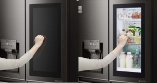 LG's InstaView Door-In-Door refrigerator lets you look inside without opening the door