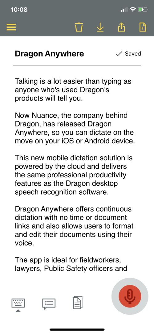 Dragon Anywhere review - dictate your documents accurately anywhere