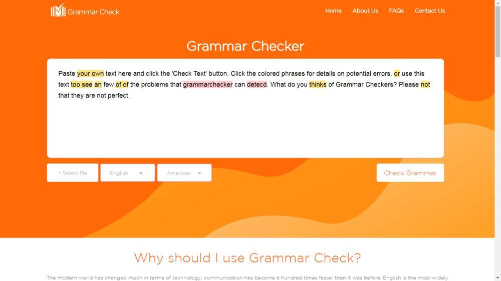 free full grammar checker