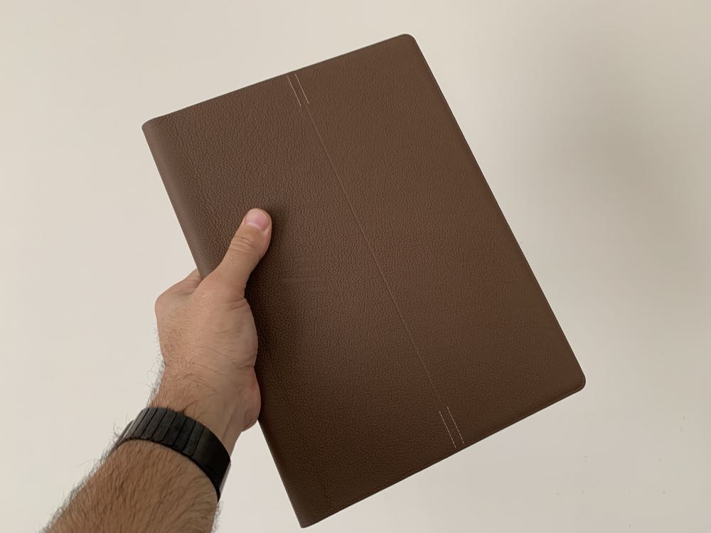HP Logo Leather Style Notebook with Matching Pen *New*