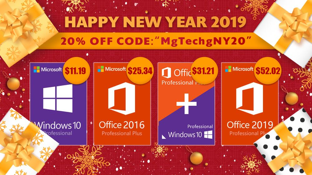 Software New Year 2019 Promotion: Windows 10 Pro $11 19