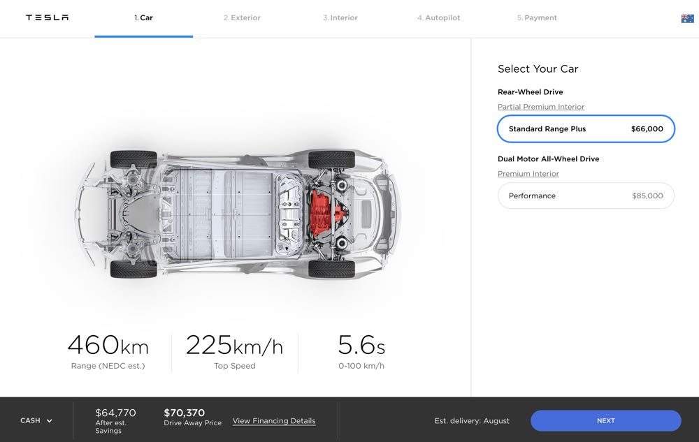 Tesla opens official orders and configurator for Model 3 ...