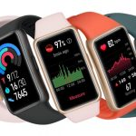 Huawei's Band 6 monitors blood oxygen and heart rate with a two-week battery life