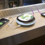 Discgo can charge your smartphone at bars, cafes and restaurants