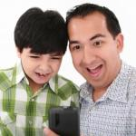 Parents getting hand-me-up gadgets from their kids