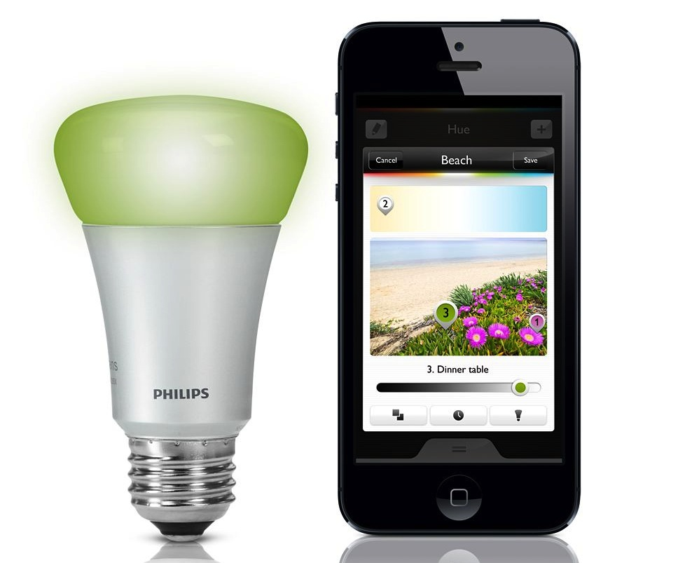 philips hue lets you control bulb brightness and colour. Black Bedroom Furniture Sets. Home Design Ideas