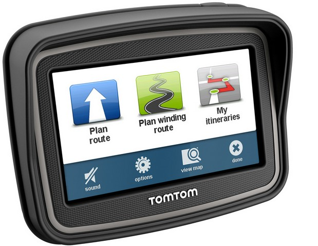 tomtom introduces gps device just for motorcycle riders. Black Bedroom Furniture Sets. Home Design Ideas