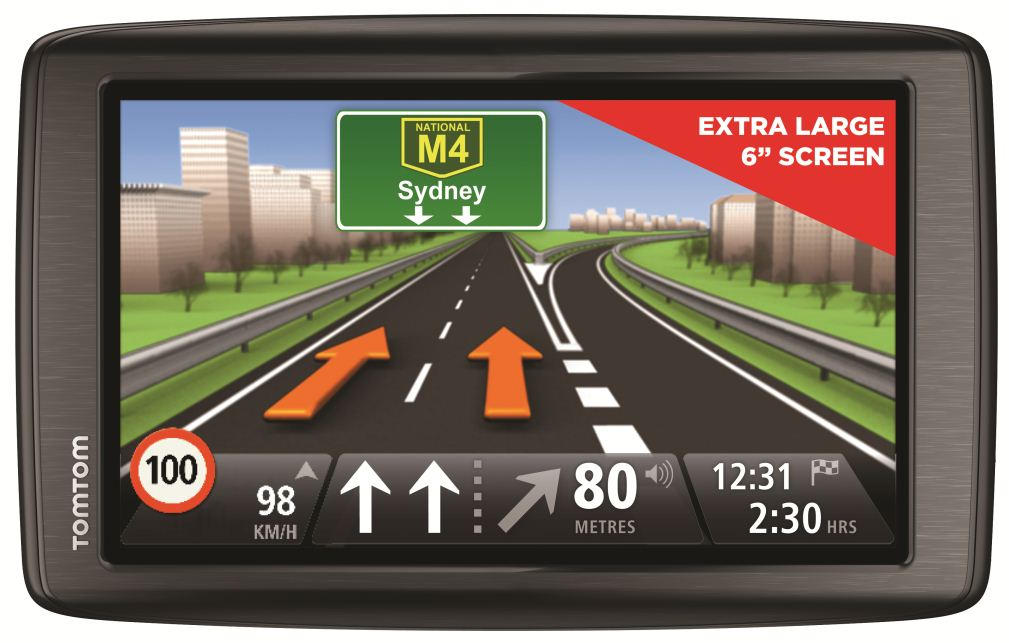 tomtom 39 s new via 620 gps has a huge 6 inch screen. Black Bedroom Furniture Sets. Home Design Ideas